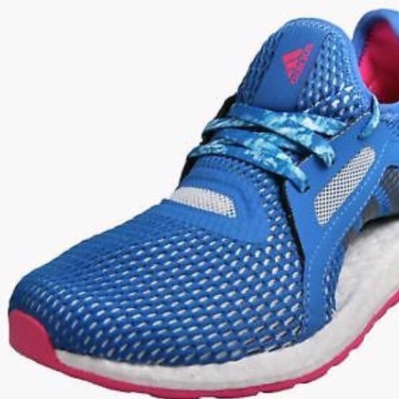 Adidas Pureboost X Womens Running Shoes Blue Pink